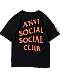 Outgobuy Unisex Hip Hop Mode Anti Social Club T-Shirt