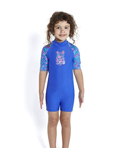 rty Essential All in One Suit Badeanzug, Aquarium/Deep Peri/Princess Pink, 9-12 Monate (All In One Badeanzüge Für Mädchen)