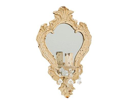 Amaranda Casa - Applique da parete in ferro con specchio