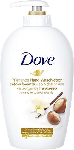 Dove -  Pure werwöhung,  loción de lavado a manteca de karité y dispensador de fragancia vainilla 6 x 250 ml