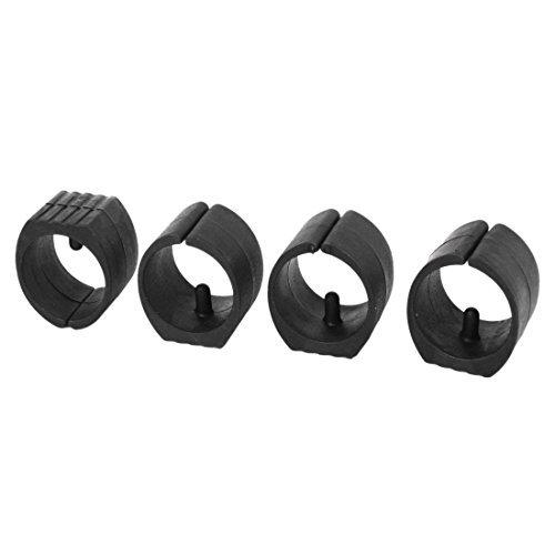 DealMux Breuer Stuhl Fuß Gleitern einzelne Zinke U-Form Caps 32mm 4 Stück