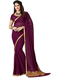 Ashika Chiffon Saree (2124_Purple)