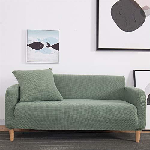 Chickwin Sofabezug, Sofaüberwurf Innen Sesselhussen Elastisch Hautfreundlich rutschfest Home Dekorative (2 Sitzer 145-185cm,Kieferngrün)