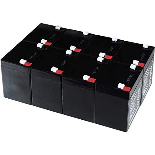 akku-net Blei-Gel-Akku für USV APC Smart-UPS 3000 RM 2U, 12V, Lead-Acid - 2u-usv-batterie