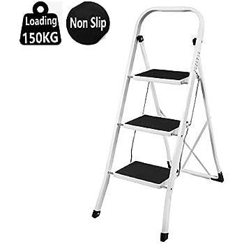 Outstanding Foldable 2 3 4 Step Ladder Non Slip Tread Stepladder Machost Co Dining Chair Design Ideas Machostcouk