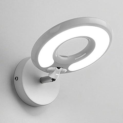 LED Leselicht Lampe Modern Einfach Kreativ Wandleuchte Schlafzimmer Bettdecke Hotel Arbeitszimmer Schutz Augen Wandbeleuchtung Einstellbar (schwarz, Weiß) ( Farbe : Weiß (Mattglas Bad)