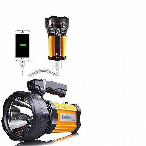Licht Wiederaufladbare Super Helle 1000 Xenon Licht Langstrecken Wasserdicht Hause 5000 Jagd Led Große Taschenlampe,Orange -