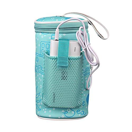 Babyflasche Thermostat Tasche Outdoor Flaschenwärmer Auto Tragbare USB Heizung Intelligente Warme Milch Werkzeug Isolationsabdeckung