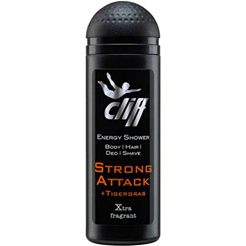 Cliff Duschgel Energy Shower Strong Attack 50 ml, 10er Pack (10 x 50 ml)