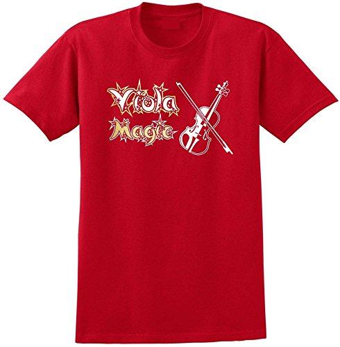 MusicaliTee Viola Magic - Red Rot T Shirt Größe 87cm 36in Small - E-saite Rot Infeld Violine