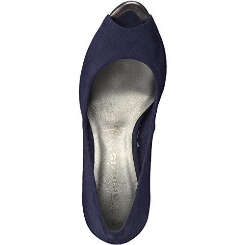 Pumps Tamaris Peeptoe 1-29302-20 Stiletto Tacco Alto Blau