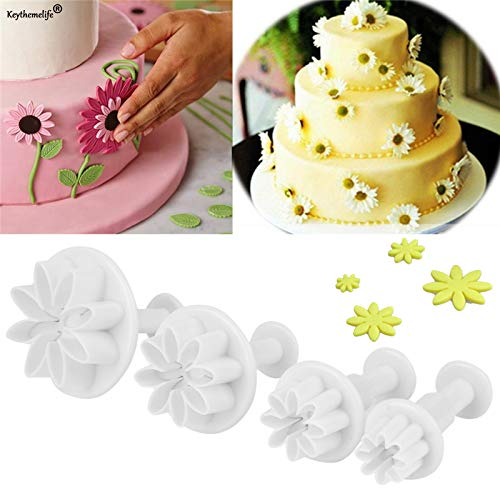 Cake Molds - 4pcs Set Cute Flower Daisy Cake Chocolate Jelly Making Mold Baking Decorating 0b - Supplies Cakes Tools Woods Baking Mold Accessories Decorating Cake Chocolate Making - Daisy Cake Pan