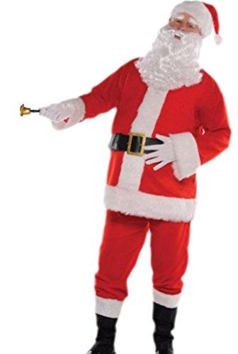 Schneemann Erwachsene Plüsch Für Kostüme (Karnevalsbud - Herren Komplett Kostüm Plüsch Weihnachtsmann , S/M,)