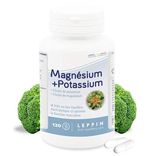 Leppin - Magnesio + Potassio 120 Capsule - minerali citrati - Alta biodisponibilità - Integratori alimentari naturali