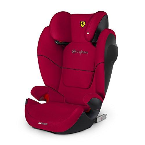 Cybex Silla de coche grupo 2/3, Solution M-Fix SL, Para coches con y sin Isofix, Grupo 2/3 (15-36 kg), Desde los 3 hasta los 12 años, Rojo (Racing Red)