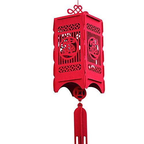 Rote Laterne Stoff (Wovemster Dekorationlichter Des Chinesischen Neujahrsfests, Hängende Rote Laternen, Traditionelle China Laterne,Glücksbringer (Rechteck))