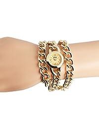 Excellanc 150404500002 - Reloj para mujeres, correa de diversos materiales color dorado