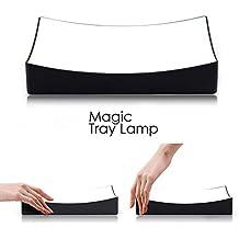 Magia Bandeja Lámpara Mesita de noche LED blanca con sensor táctil/lámpara de mesa/lámpara de noche/mesa lamps-white LED