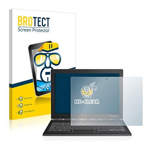 BROTECT Schutzfolie kompatibel mit Lenovo Yoga Book C930 [2er Pack] klare Bildschirmschutz-Folie