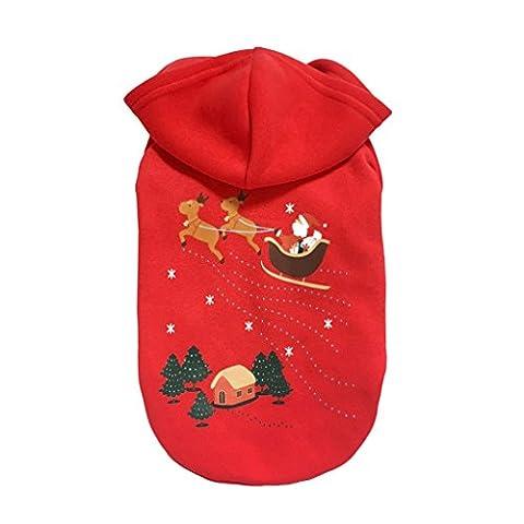 Costume Manteau Vêtements Hoodie à Capuche de Noël Pour Animaux