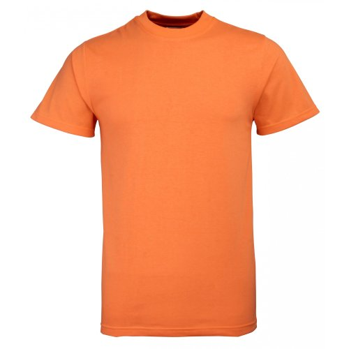 RTY Herren T-Shirt Verbesserte Sichtbarkeit (2 Stück/Packung) (Medium) (Orange) - Mann Authentisch Baumwolle
