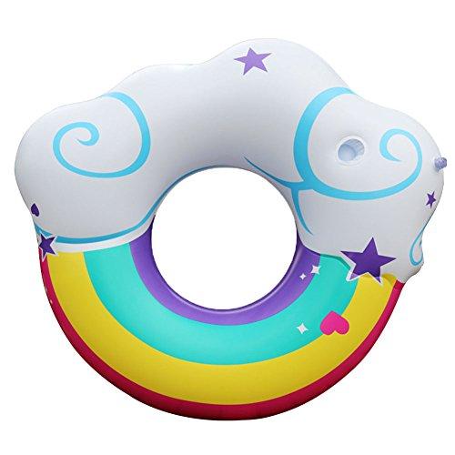 Aufblasbar Regenbogen Wolke 105cm Kinder Schwimmen Pool Boot Luftmatratze Floß