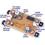 Rackeys subwoofer Filter Board (Single Supply) with inbuilt Phase Switch and Frequency selector