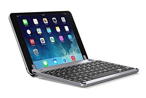 Air-tastatur Ipad (BRYDGE 9.7, hochwertige Bluetooth Tastatur aus Aluminium, deutsches Layout QWERTZ, für das iPad Air, Air 2, iPad Pro, iPad 2017 und das neue iPad 2018, space grau)