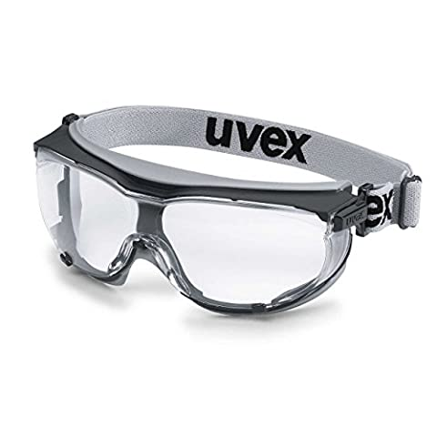 Uvex 9307375 Safety Glasses, Carbon Vision, Sv Extreme Clear, Grey/Black