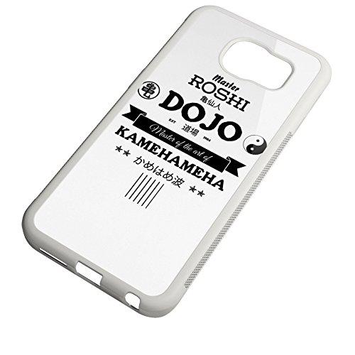 Smartcover Case Master Roshi Dojo z.B. für Iphone 5 / 5S, Iphone 6 / 6S, Samsung S6 und S6 EDGE mit griffigem Gummirand und coolem Print, Smartphone Hülle:Iphone 6 / 6S schwarz Samsung S6 EDGE weiss