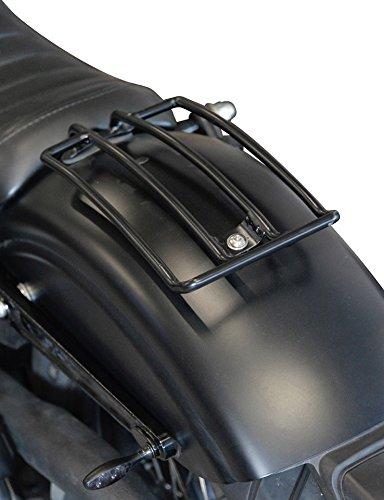 Gepäckträger schwarz Dyna Street Bob (2006-2017) und Wide Glide (2010-2017) HD Buffalo Bag.