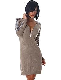 707a6762ed62 Mini robe mini robe pailleté pull col V longue shirt des femmes Jela Londres
