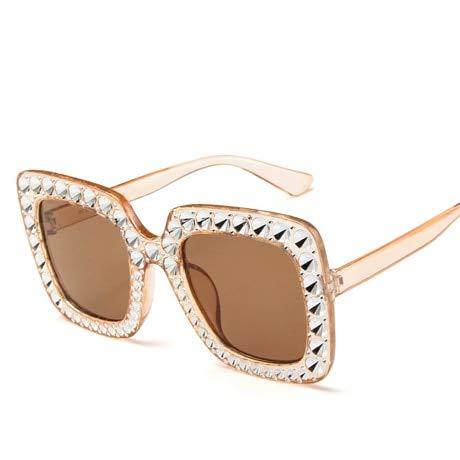 GAOHAITAO Shining Diamond Sunglasses Women Design Flash Square Shades Female Mirror Sun Glasses,3