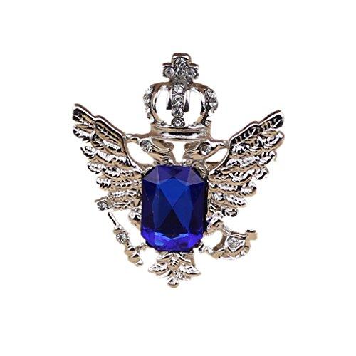 Generic Vintage Brosche Anstecknadel Kragen Broschen Herren-Brosche Schmuck - Blau Silber