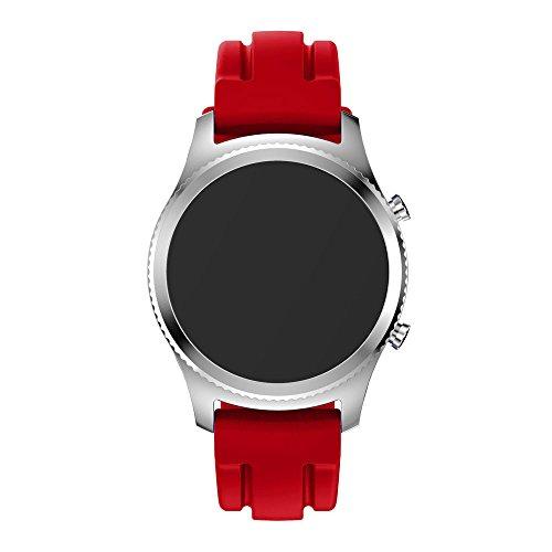 20mm bande de montre de sport, Happytop Coque en silicone Bracelet de remplacement Bracelet pour Samsung Gear S3classique S Red