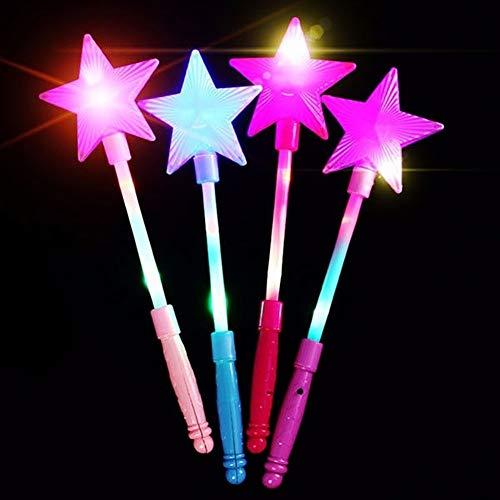 SEGRJ Modischer LED-Blinkender Leuchtstab mit 5 Zacken und Sternen für Kinder, zufällige Farbe Zufällige Farbauswahl