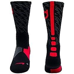 Nike Hyper Elite Crew Calcetines de Baloncesto, Unisex, Calcetines de la Tripulación Hyperelite Baloncesto, 16, Niños, Color Negro/Gris, Tamaño Small