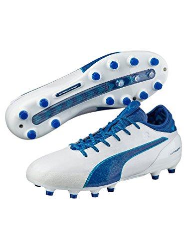 Puma Evotouch 2 Ag, Chaussures de Football Compétition Homme blanc/bleu
