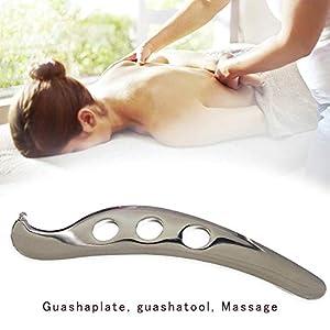 Professionelles Edelstahl-Gua Sha-Massage-Werkzeug, für Körper-Weichgewebe-Physiotherapie und zur Förderung der Durchblutung-Weichgewebe-Mobilisierung und zur Verringerung der Muskelschmerzen