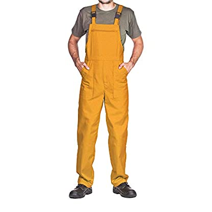 Pantalones con peto de trabajo para hombre, Made in EU, Mono de trabajo, Azur, blanco, rojo, verde, negro