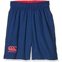 Canterbury - Pantaloncini Vaposhield da ragazzo, Ragazzi, Vaposhield, Sport Blue/Firecracker/Malibu Blue, 8
