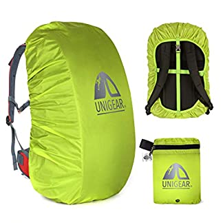 41zniSsS qL. SS324  - Unigear Funda Impermeable para Mochila 15~80L Cubierta de Bolsa Bolso Protector de Lluvia para Camping Senderismo Excursionismo