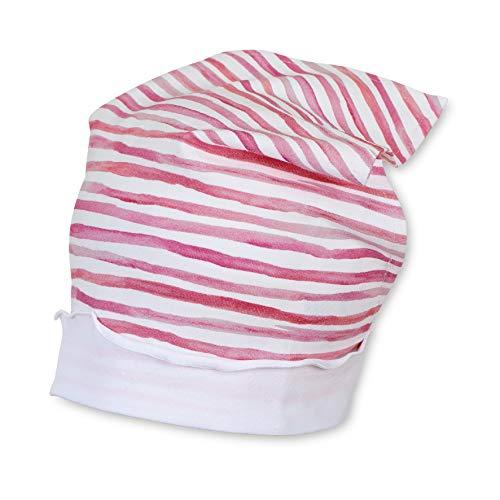 Sterntaler Kopftuch für Mädchen mit Streifenmuster, Alter: 18-24 Monate, Größe: 51, Rosa (Orchidee)