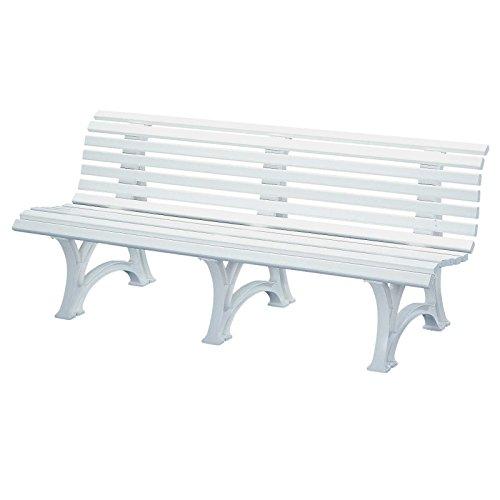 Gartenbank BORKUM weiß, 4-Sitzer, Kunststoff, Breite: 200 cm
