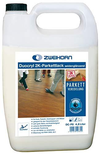 Zweihorn Duocryl 2K-Parkettlack DC-P 8 seidenglänzend (4,8 Liter)