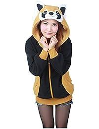 Femme Sweat à Capuche - LATH.PIN Cosplay Costume Animaux Sweat à Capuche Fleece Jacket Sweat-shirt Top Manteau