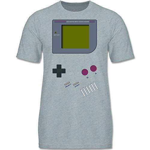 Up to Date Kind - Gameboy - 122-128 (7-8 Jahre) - Blau/Grau meliert - F140K - Jungen T-Shirt
