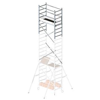 Hailo 9904-101 – 2ª extensión para andamio de aluminio Hailo 9900-101, 601 x 157 x 71 cm (altura max de trabajo: 7 m)