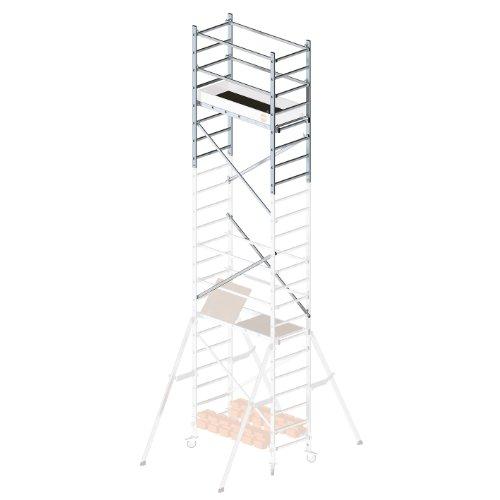 Hailo ProfiStep multi, 2. Aufstockung, Arbeitshöhe: 700 cm (nur mit Grundgerüst + 1. Aufstockung), inkl. Montagezubehör, made in Germany, 9904-101