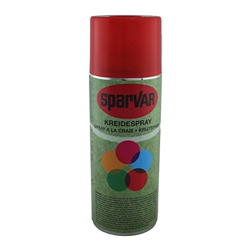 6 x SparVar Kreidespray 400ml (Rot) (Spray-markierung Kreide)